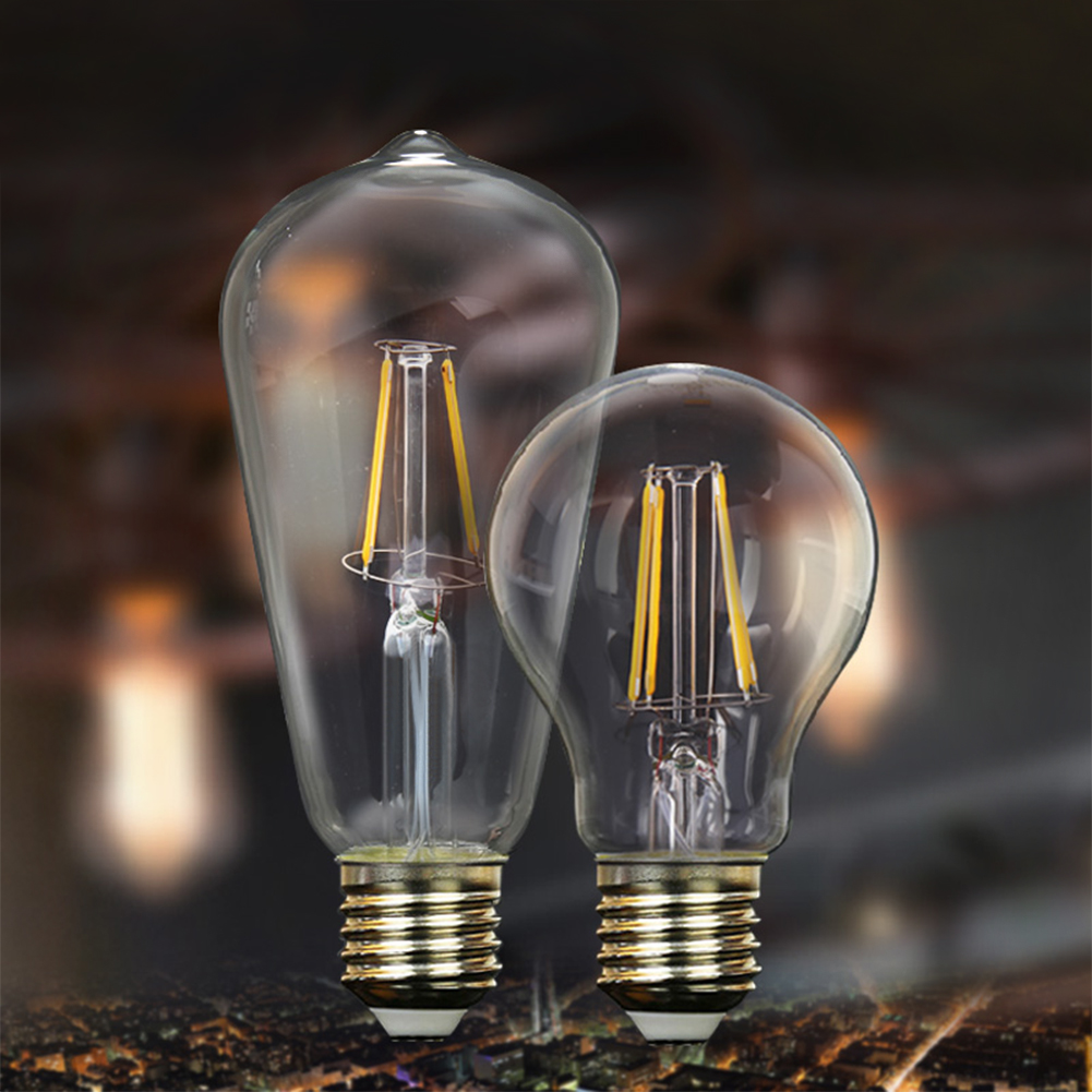 Antique Style Classic Edison Filament COB LED Bulbs Chandelier Candle/Flame/Globe Light 4-16W G45 A60 ST64 Lamp 4W 8W 12W