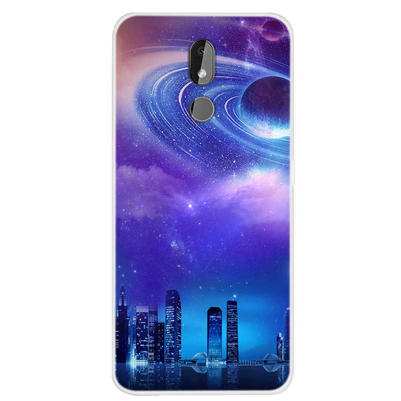 Pour Nokia 3.2 housse de protection Cool espace ciel imprimé étui en polyuréthane thermoplastique souple pour Nokia 3.2 Silicone téléphone arrière housses pour pour Nokia3.2 2019