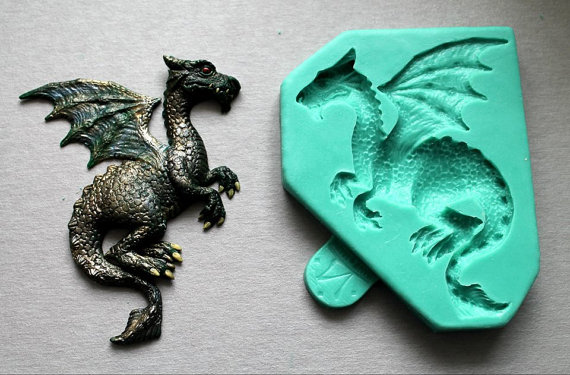 Silicone Mold Dragon Shape Fondant Molds Animals Cake Decorated Food Grade For Cke Decorations Candy Mold Clay Moulds