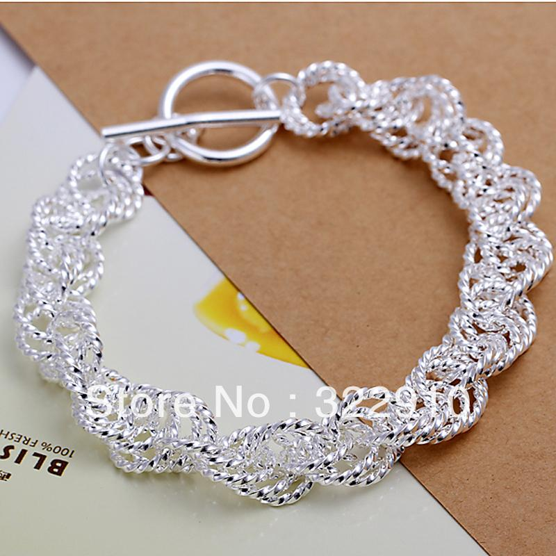 Hot Sale Free Shipping H240 925 Silver Bracelet Fashion Jewelry