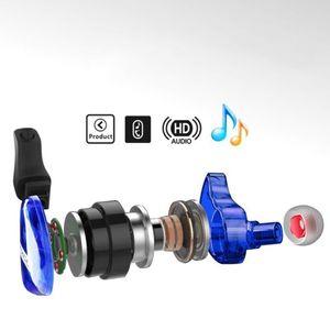 Image 3 - Fonge auriculares T01 transparentes, intrauditivos Subwoofer estéreo de graves con micrófono para teléfono inteligente HTC y Huawei