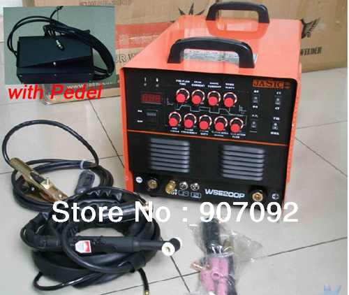 все цены на High Quality JASIC WSE-200P TIG200P AC/DC TIG/MMA Square Wave Pulse Inverter Welder 220-240V With Foot Control Pedal 2+3 Pins онлайн