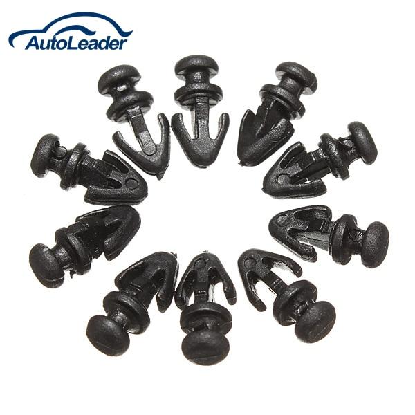 10pcs For Ford Mondeo MK2 MK3 MK4 Door Gasket Sill Sealing Trim Fastener Clip Lower