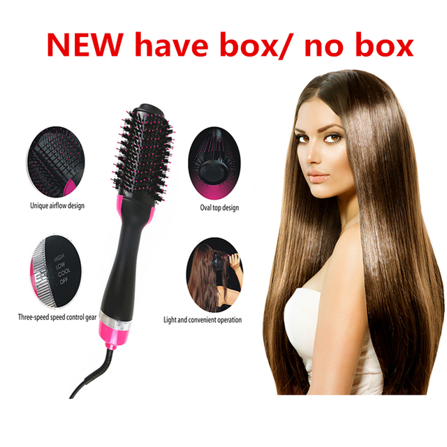 Hair Dryer Volumizer Hair Brush One step Magic Hair Modeling Styling Negative Ions Hair Comb Straightener Pro Salon