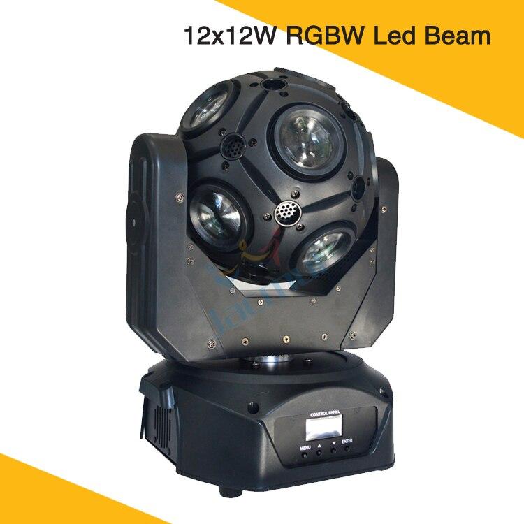 12*12 w LED lumière de Football RGBW lumière de faisceau de tête mobile boule magique tournant la barre de Disco allume l'éclairage d'étape de boîte de nuit