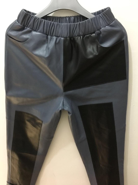 M XL taille élastique véritable mouton en cuir moto pantalon femme marque de mode hit couleur en cuir véritable pantalon wq852 livraison directe - 4