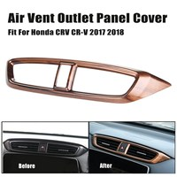 1Pcs High Quality Peach Wood Grain Air Vent Outlet Panel Cover For Honda CRV For CR