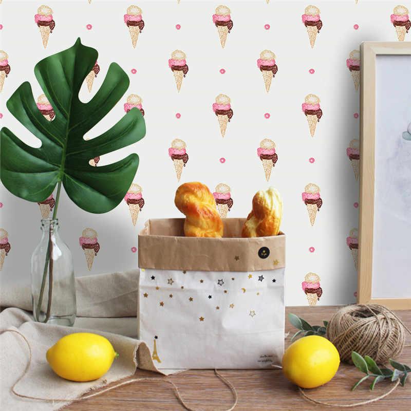 Порошок мороженое настенные художественные наклейки плакат на стену для малыша детская комната мебель домашний декор Водонепроницаемый съемные, художественные, из ПВХ наклейка