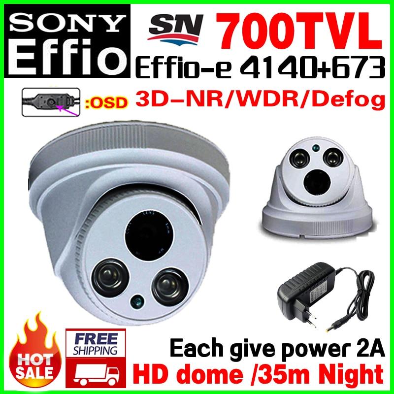 Give 2A Power!1/3Ccd 700VL Effio-e HD CCTV Camera Array Night Vision 50m OSD meun Security Surveillance Video monitoring vidicon