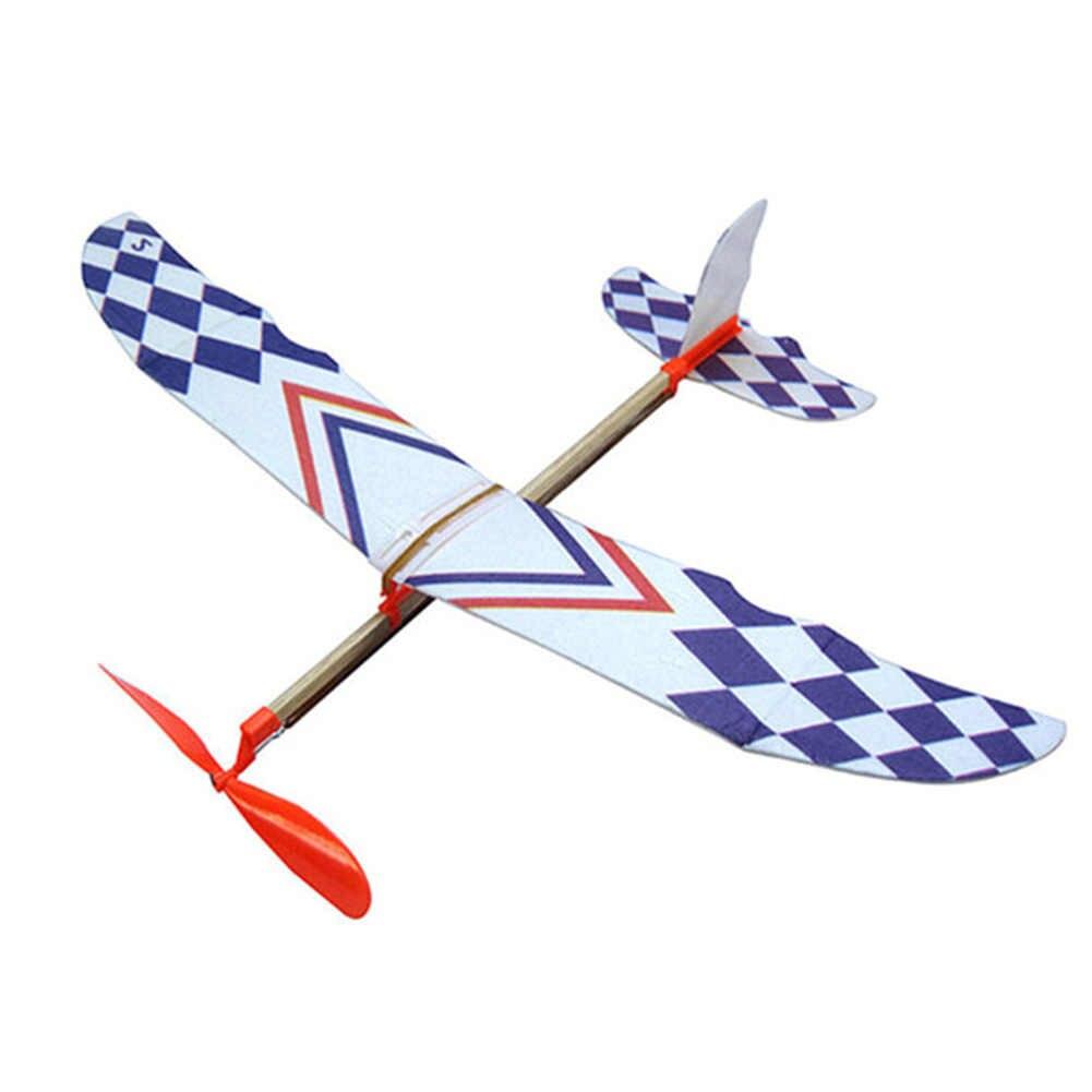 Karet Gelang Pesawat Novel Jet Glider Pesawat Model Anak Laki-laki Mainan Mesin Belajar Ilmu Mainan Perakitan Pesawat Mainan Pendidikan