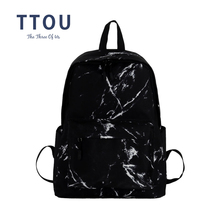TTOU Women Canvas Backpack for Teenagers Girls Large Capacity Bags Marbling Backpacks Female Rucksack School Bag