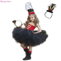 Halloween Nutcracker Tutu Dress and Hat Toddler Girls Toy Soldier Birthday Party Costume Dress Up Kids Winter Christmas Clothes