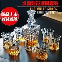 Творческий стекло большой виски чашка для пива винный графин столовое вино комплект Стакана Ликера