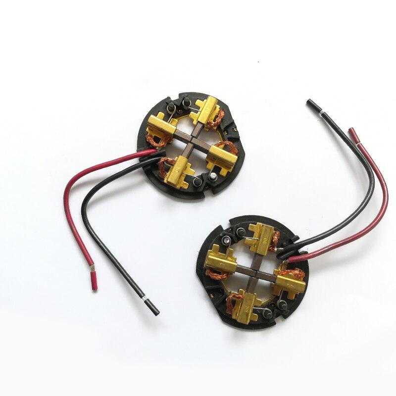2PCS/LOT, Carbon Brush Holder Brush Card Assembly M18 18V For AEG Milwaukee RYOBI Hammer Drill & Impact Driver Accessories