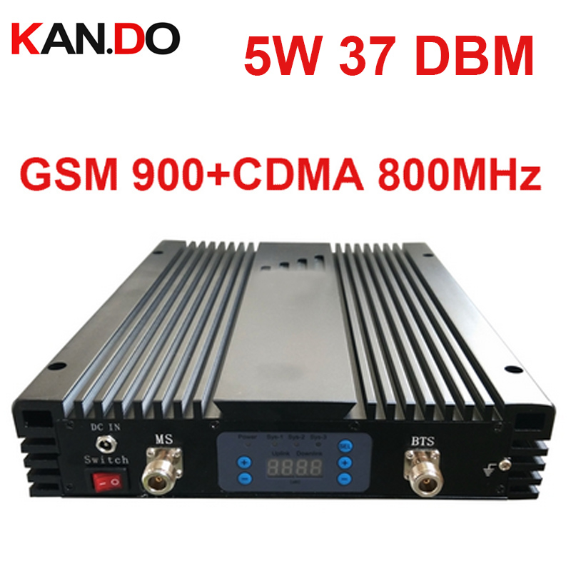 No Interfer 5W 37dbm 85dbi CDMA+GSM DUAL Band Repeater AGC/MGC 800MHZ + 900MHz Signal Booster CDMA Repeater Gsm BOOSTER