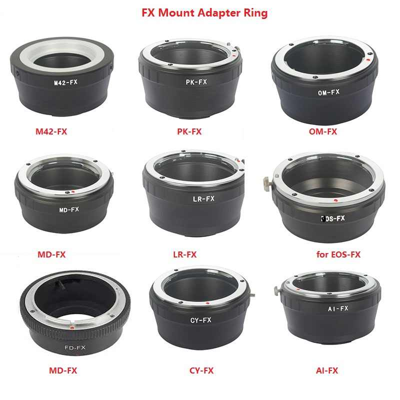 Foleto FX Camera Adapter Ring For Canon Eos Nikon AI Pentax Olympus CY LR MD M42 Lens Adapter to for Fujifilm X-Pro1 FX XT10 XE1