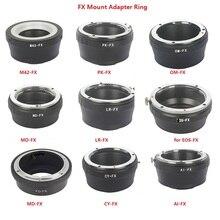 Foleto FX Kamera Adapter Ring Für Canon Eos Nikon AI Pentax Olympus CY LR MD M42 Objektiv Adapter zu für fujifilm X Pro1 FX XT10 XE1