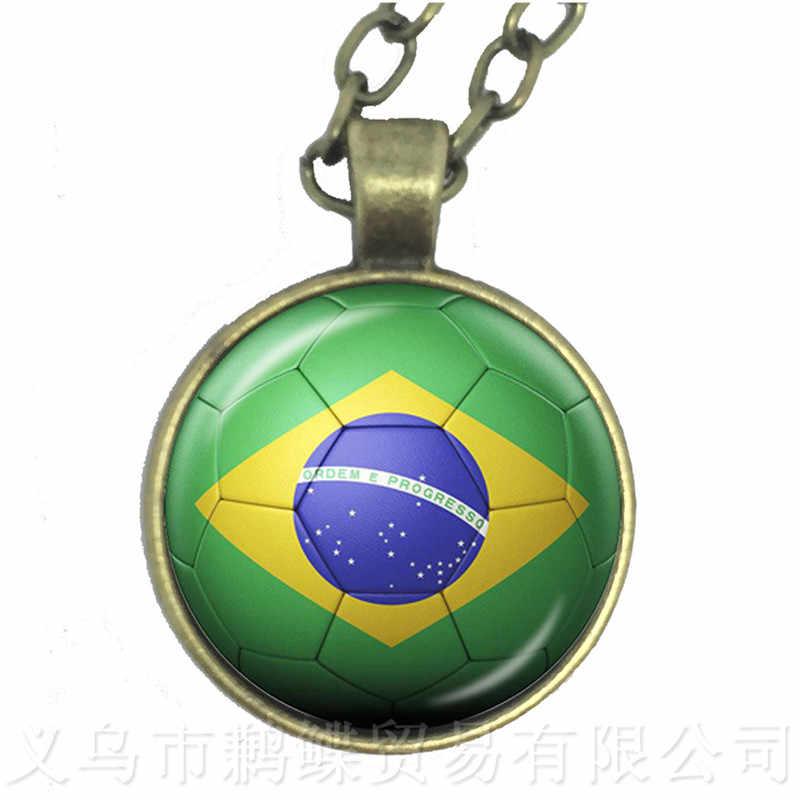 أيسلندا ، بلجيكا ، البرازيل ، المغرب ، بيرو ، المكسيك ، كرواتيا ، كوريا لكرة القدم التذكارات زجاج قبة قلادة قلادة ل 2018 لكرة القدم كأس