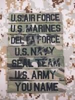 Черные буквы Мультикам на заказ именные ленты нагрудные ленты услуги ленты моральные тактические значки Военная вышитая нашивка
