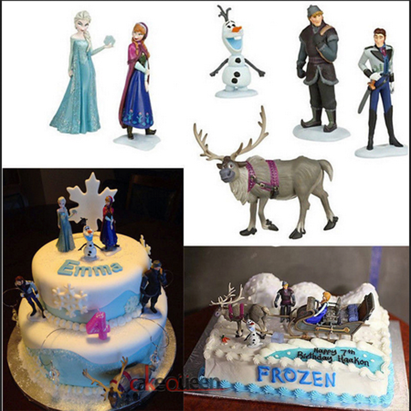 Princesses Toys Cake Topper For Gril Birthday 5pcs Snow White Elsa Ariel Bella Tinker Bell Pvc Action Figure Doll Kids Gift
