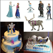 Princesses Toys Cake Topper for Gril Birthday 5pcs Snow White Elsa Ariel Bella Tinker Bell Pvc Action Figure Doll Kids Toys Gift