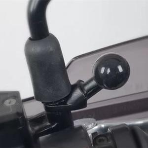 Image 5 - אלומיניום מיני אופנוע הר בזווית בסיס עם 10mm חור & 1 אינץ כדור עבור RAM הר עבור Gopro מצלמה, smartphone, Garmin GPS