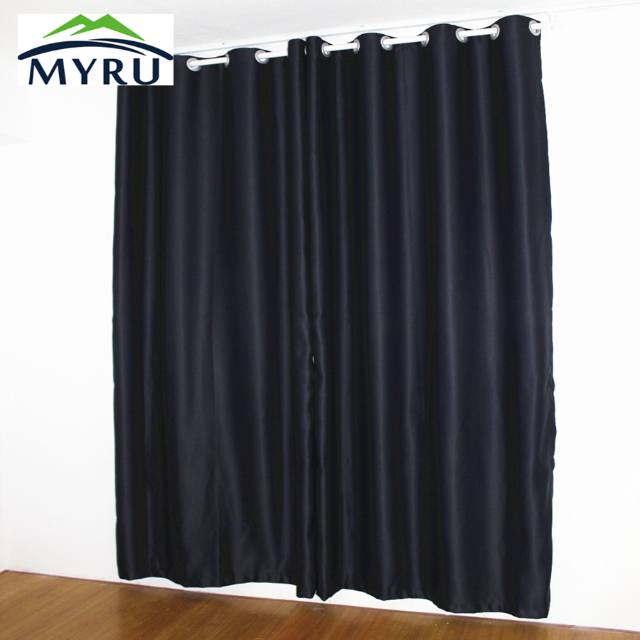 New Black Curtains Full Shade Thermal Insulated Blackout Curtain For Baby And Shift Work Person