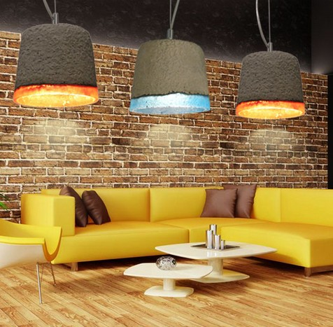 Industrial Loft Style Retro Resin Cement Droplight LED Pendant Light Fixtures For Dining Room Hanging Lamp Indoor Lighting nordic resin retro loft style industrial lighting vintage pendant lamp fixtures dinning room led hanging light lamparas