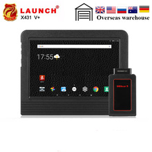 Launch X431 V plus X431 V+ OBD2 Scanner OBDII Automotive Diagnostic Tool Bluetooth Wifi Full Systems Android 7.1 Launch Scanner 2017 new launch x431 easydiag 2 0 obd2 bluetooth adapter original launch easydiag free diagnostic cable for android ios as gift