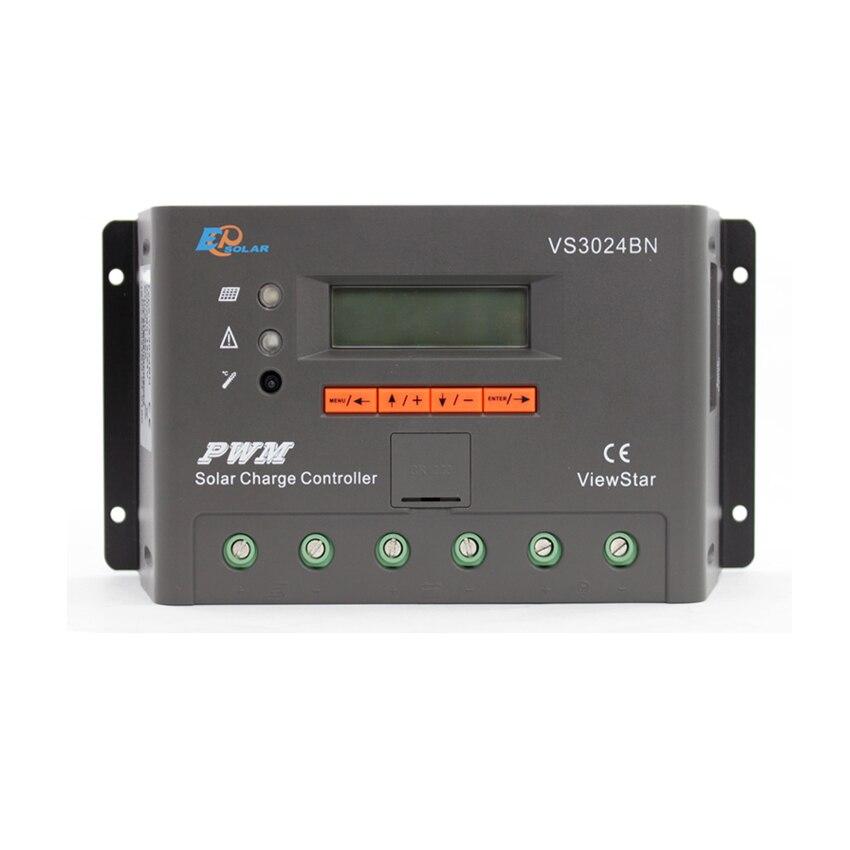 1 pc x 30A voir étoile VS3024BN 12 V 24 V Auto EP PWM système solaire Kit contrôleur LCD affichage