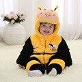 Fashion warm winter clothes kids outerwear baby girls cute children 3d animal baby hoodies romper 2016