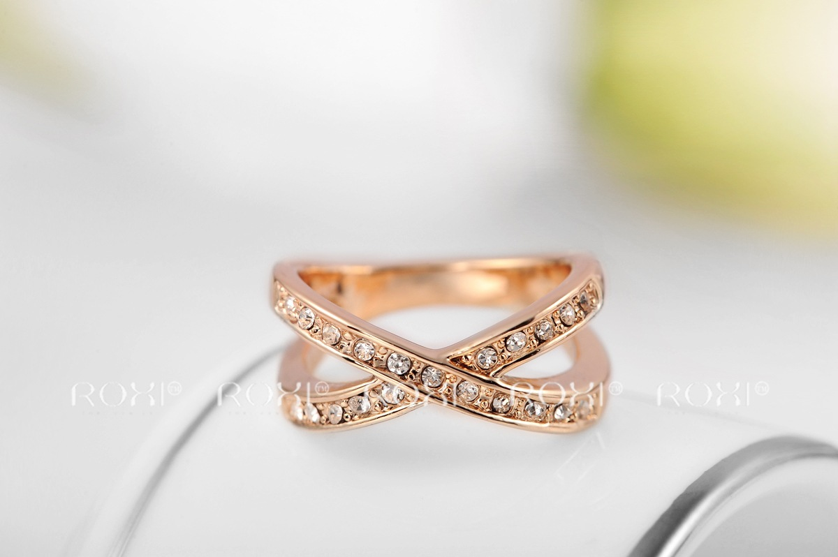 Latest Style Austrian Crystal Rose Gold Wedding Rings For Women ...