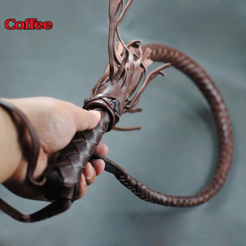 купить Genuine Leather bdsm whip couples bondage restraints slave flirt tools spanking paddle flogger sex games products for adults недорого