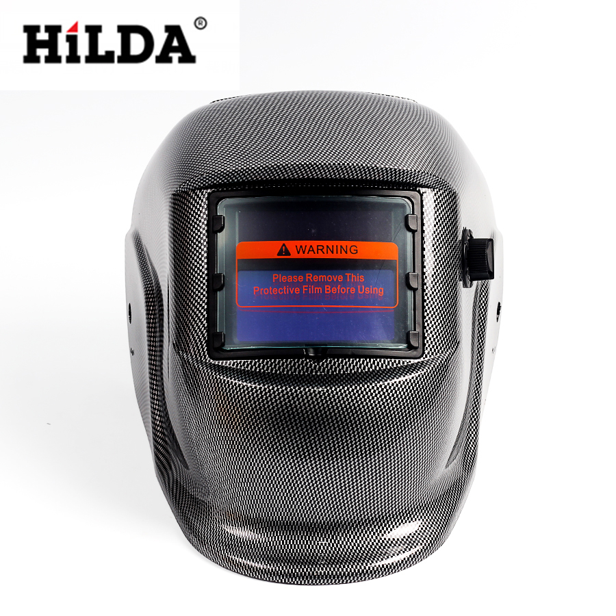 HILDA Welding Equipment Tools Accessories Gray Solar Auto Darkening Electric Welding Mask/Helmet/Welder Cap/Welding Lens din7 din12 shading area solar auto darkening welding helmet protection face mask welder cap for zx7 tig mig welding machine