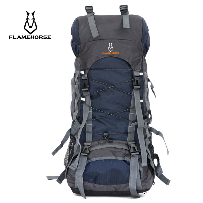 2018 Hot 50L Large Waterproof Climbing Hiking Backpack Rain Cover Bag Camping Mountaineering Backpack Sports Outdoor Bike Bag 75l waterproof climbing hiking backpack rain cover bag camping mountaineering backpack sport outdoor bike bag rucksack travel