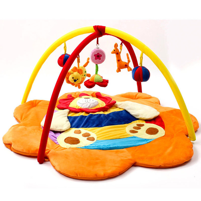 Colourful flower-shaped Baby Musical Play mats With Toys Kids Play Mat Children Carpet Crawling Tapete Educational Toys zl838