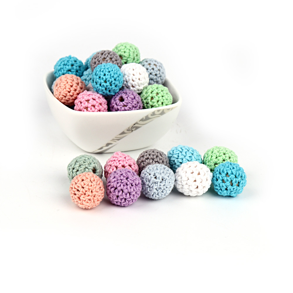 100pcs Baby Nursing Teether Crochet Beads 16mm Teeth Nursing Pacifier Teething Beads Teething Wood Rattles Toys Nursing Gift кофеварка atlanta ath 530 черный