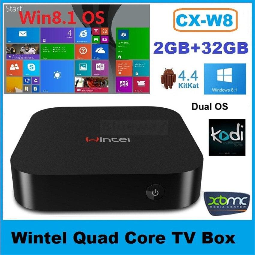 cx w8 wintel tv box smart mini pc atom z3735f quad core. Black Bedroom Furniture Sets. Home Design Ideas