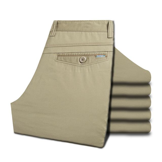 2016 Verão Nova dos homens Calça Casual Leve Tipo de Cintura Alta Em Linha Reta Calças Soltas Masculinos Plus Size 30-36/38/40