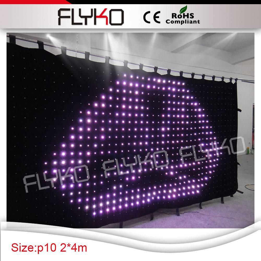Haute qualité 4*2 m Led rideau pour disco boule éclairage. affichage belle lumière