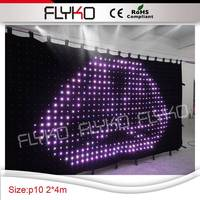 High quality 4*2m Led curtain for disco ball illumination. Display beautiful light