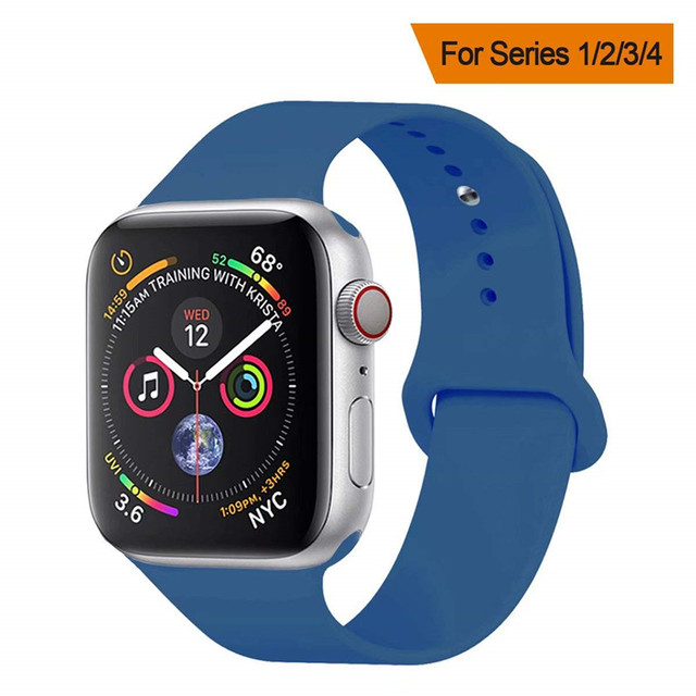 Soft Silicone Sport Band for Apple Watch Series 4 Nike+Watchband 40mm 44mm Bracelet Replacement