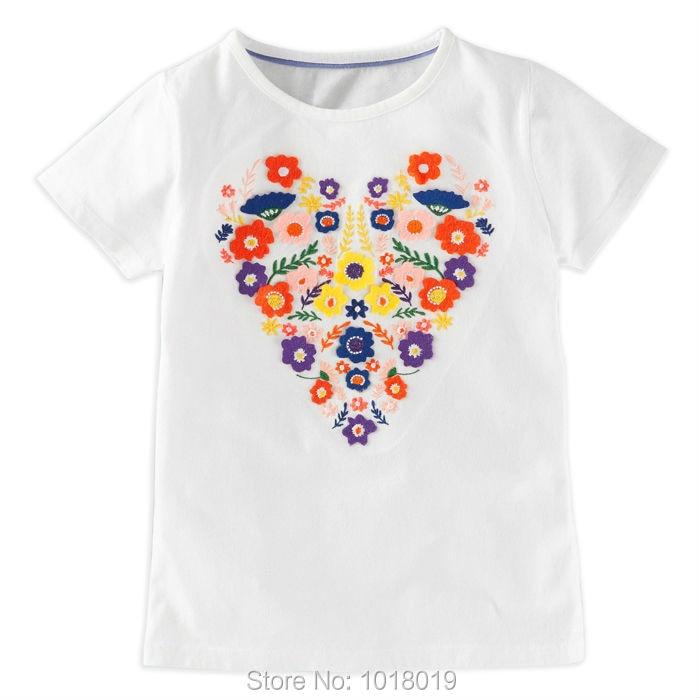e5632008b7f9 Nouveau 2018 Marque Qualité 100% Coton Bébé Filles t-shirt enfant Enfants  Vêtements Enfants Vêtements Chemise À Manches Courtes Bébé Fille Blouse
