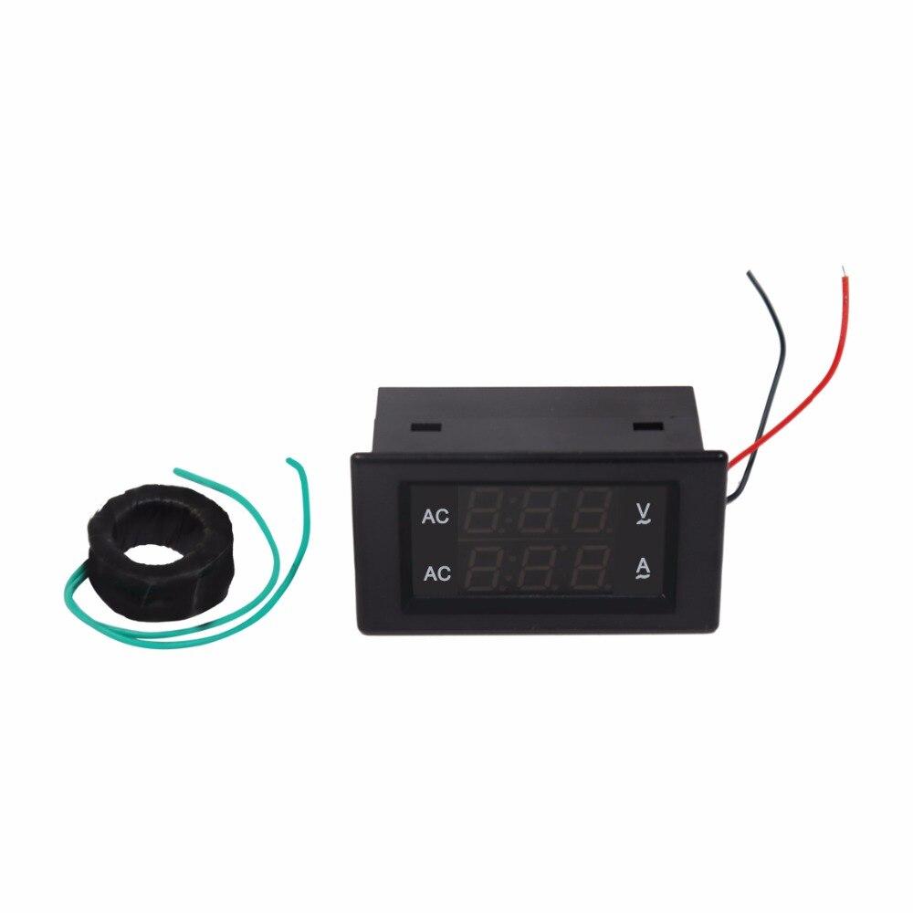 Профессиональный ac вольтметр и амперметр диапазон 100 В-300 В СВЕТОДИОДНЫЙ цифровой дисплей напряжение ток тестер с точным трансформаторы