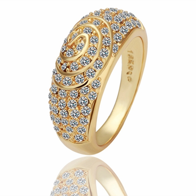 Ring 18K Gold Beautiful Ring 18K Gold Popular Jewelry Ring Wholesale