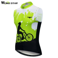 Weimostar Cycling shirts Sleeveless Summer Reflective Cycling Vest Men MTB Bike Clothing Quick Dry Bicycle Ciclismo Breathable