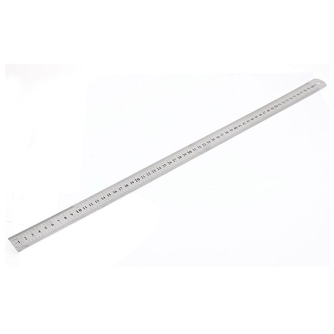 Stainless Steel Double Side Measuring Straight Edge Ruler 60cm/24, Silver