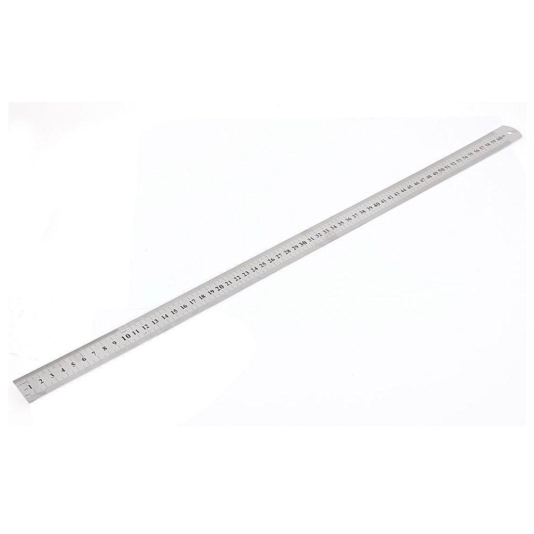 Stainless Steel Double Side Measuring Straight Edge Ruler 60cm/24