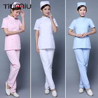 New Arrivals Women Summer Hospital Medical Scrub Sets Fashionable Design Slim Dental Scrubs Hospital Beauty Salon Nurse Uniforms
