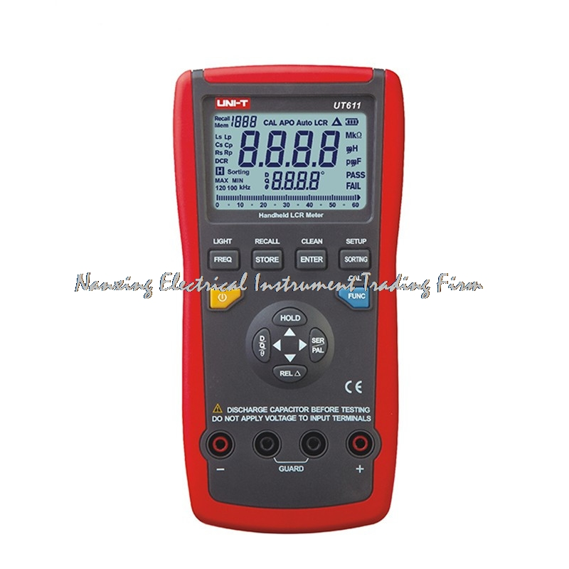 UNI-T UT611 6000 Display Count Real-Time Display Test Frequency Handheld Digital LCR Meters Tester 1 pcs mastech ms8269 digital auto ranging multimeter dmm test capacitance frequency worldwide store
